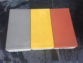 成都合川彩石复合混凝土透水砖